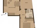Plan Hotel Villa Désirée Appartment F