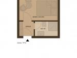 Plan Hotel Villa Désirée Zimmer mit Waldblick (B)