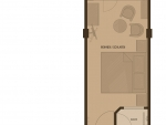 Plan Hotel Villa Désirée Zimmer mit Waldblick (A)
