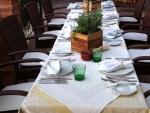 Edle Tischtafel im Erwachsenenhotel Villa Désirée