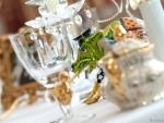 Tischdekoration mit Liebe zum Detail im Erwachsenenhotel Villa Désirée