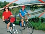 Radfahren an der Drau
