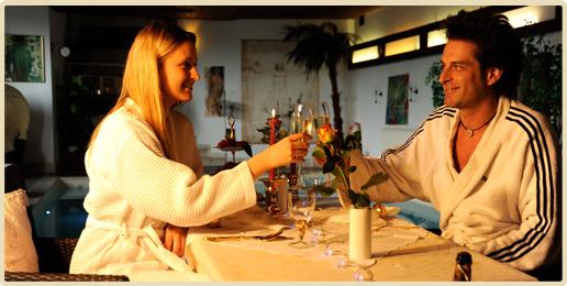 Candle Light Dinner im Erwachsenenhotel Villa Désirée